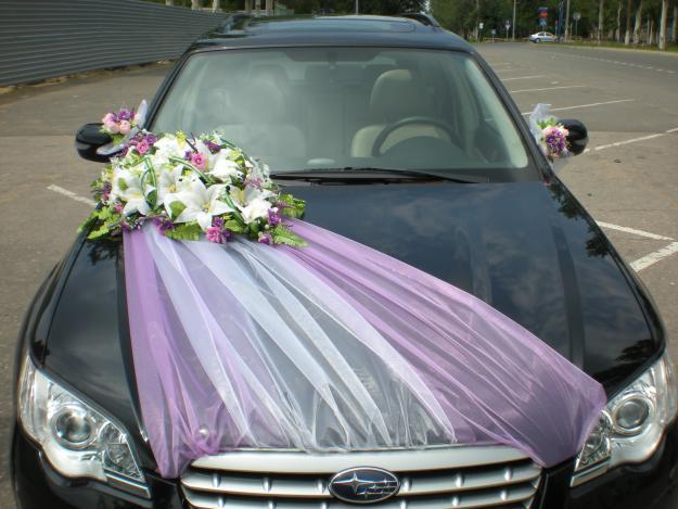 Украшение на машину на свадьбу фото своими руками